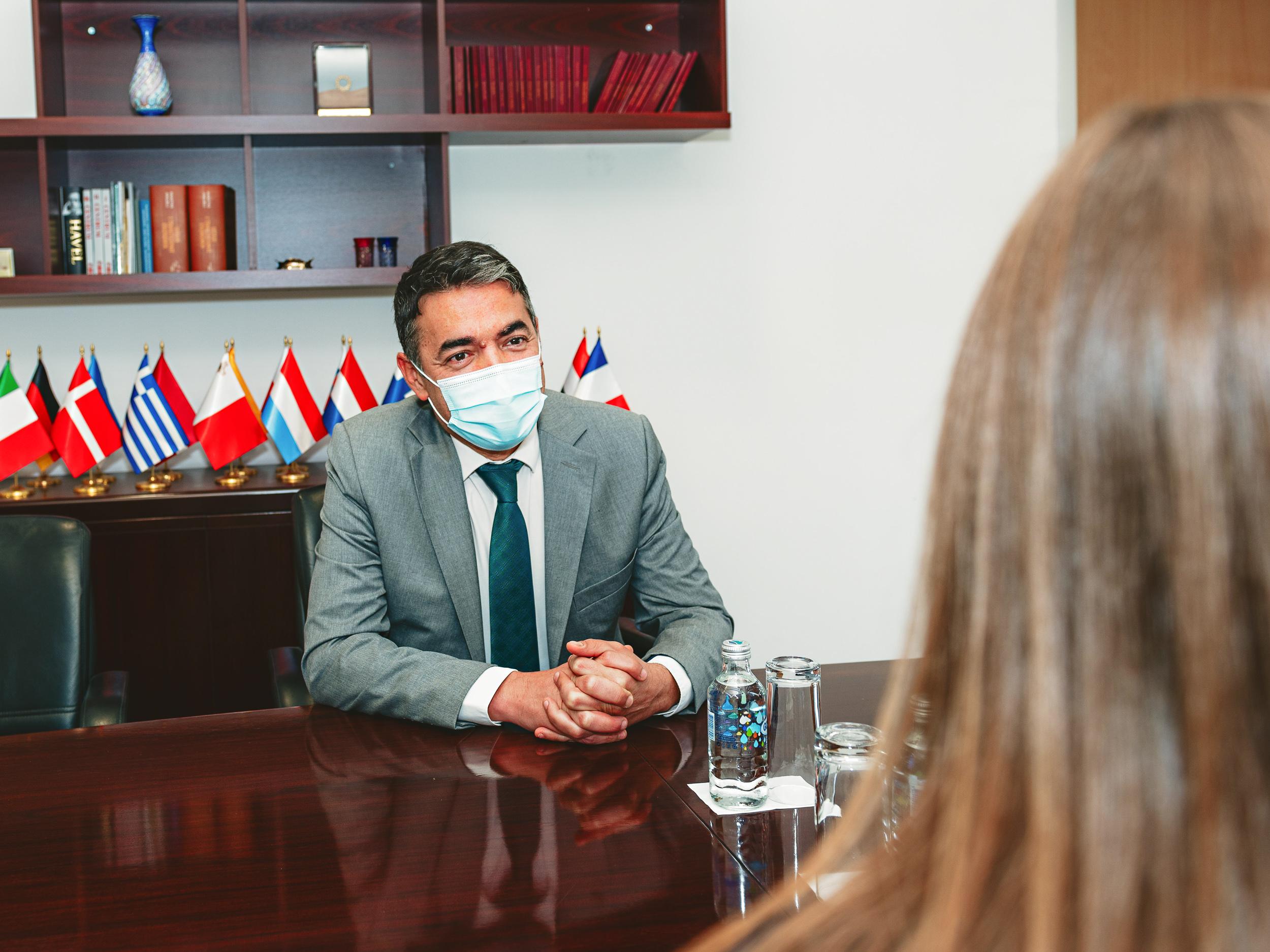 Takim lamtumirës i Zëvendëskryeministrit Dimitrov me Ambasadoren e Australisë Stjuart