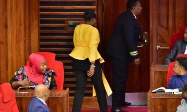 Deputetja dëbohet nga seanca parlamentare pasi kishte veshur pantallona të ngushta