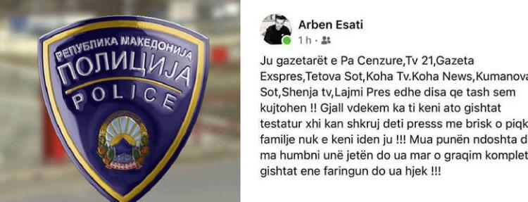 MPB ka ngritur padi kundër Arben Esatit, personi që kërcënoi gazetarët me vdekje