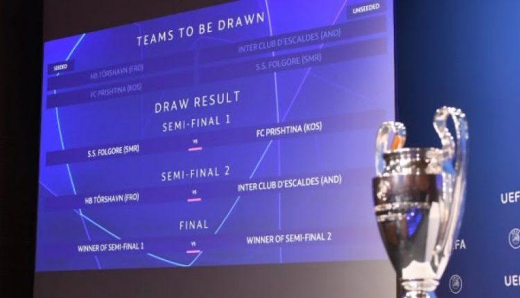 UEFA ia beson Shqipërisë organizimin e këtyre ndeshjeve të Ligës së Kampionëve