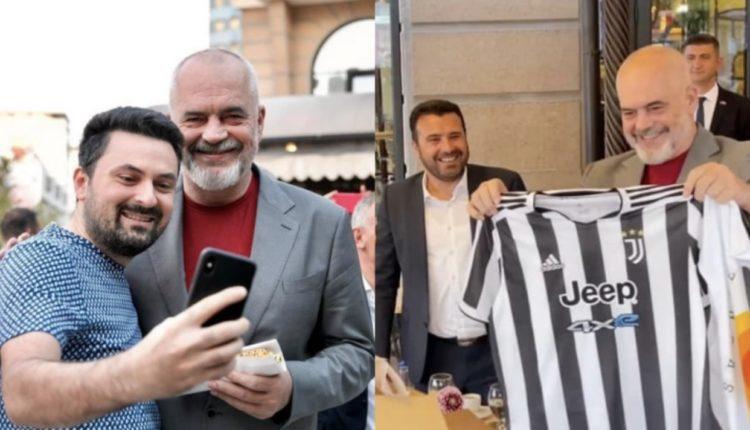 Misri dhe fanella e Juventusit, Rama ndan momentet pikante në Shkup (FOTO)