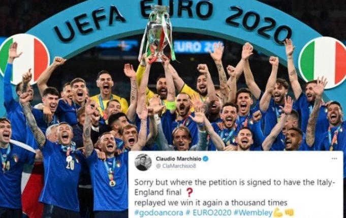 Marchisio nënshkruan peticionin që të luhet përsëri finalja e Euro 2020: Ta mposhtim edhe njëmijë herë Anglinë