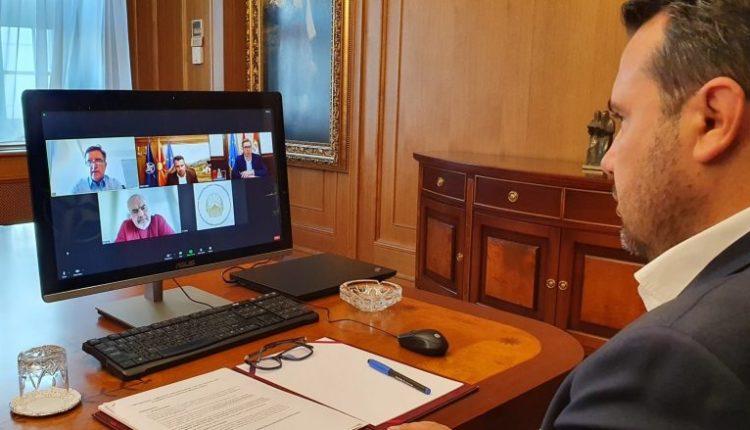 Zaev realizoi takim online me Ramën dhe Vuçiqin