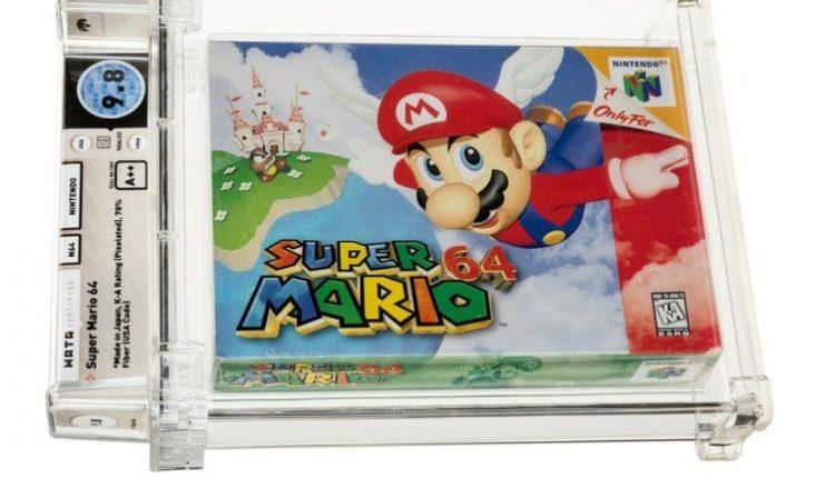 """""""Super Mario"""" thyen rekord, bëhet loja më e shtrenjtë në botë, një kopje shitet për 1.5 milion dollarë në ankand"""