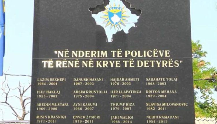 Kosovë, pllakë përkujtimore për 21 zyrtarët policorë të rënë në krye të detyrës