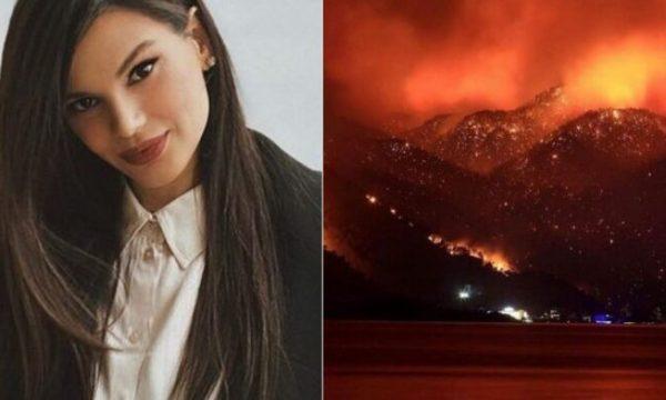 Almeda Abazi reagon e shqetësuar për zjarret, kërkon ndihmë për Turqinë