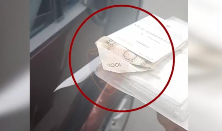 Njëri me euro, tjetri me lekë/ Dy shoferë tentojnë të korruptojnë policët (VIDEO)