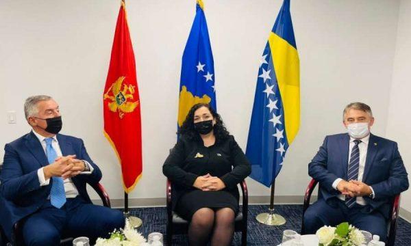 Presidentët e Kosovës, Malit të Zi e Bosnjës shprehen të shqetësuar për zhvillimet e fundit në rajon