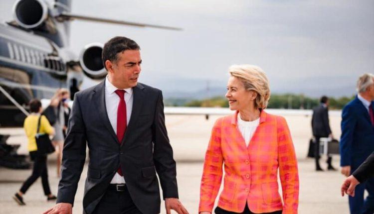 Presidentja e KE-së, Ursula Von Der Leyen mbërrin në Shkup