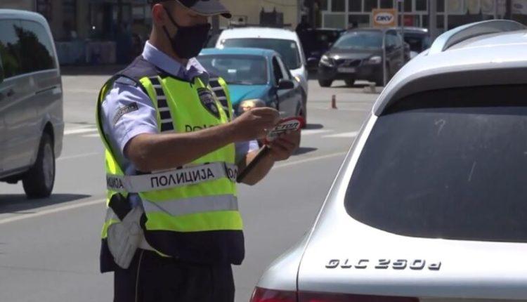 199 gjoba trafiku në Shkup, 18 vozitës pa patentë shoferi