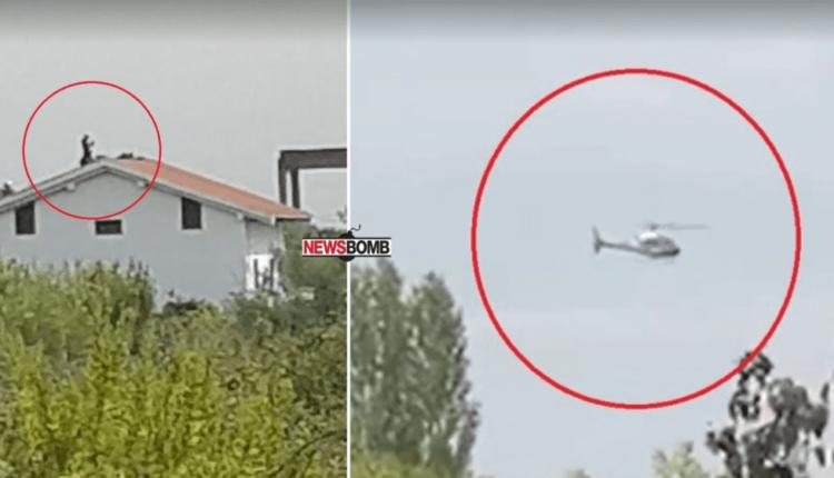 Forcat speciale rrethojnë shtëpinë në Kune-Vainit, vrasësi i policit qëllon me armë helikopterin